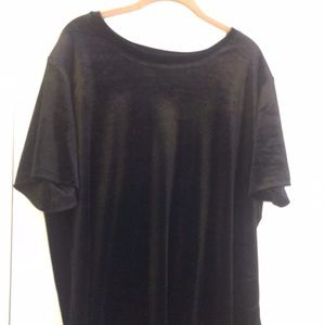 Old navy black velvet top